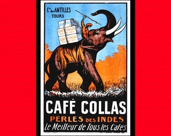 ON SALE 25% -  Cafe Collas Advertising Print 1927 - Food Poster Coffee Poster Kitchen Kitchen Decor Kitchen Prints Coffee Print  t