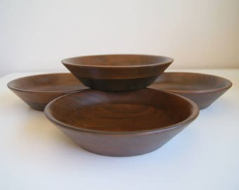 Mid Century Walnut Bowls by Vermillion.