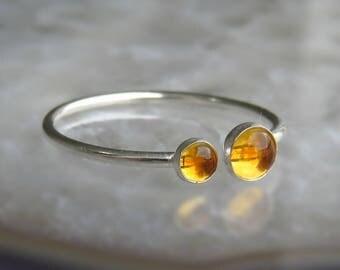 Citrine Ring / Citrine Stacking Ring / November Birthstone