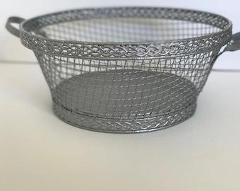 Silver wire basket
