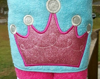 Princess  Hooded Towel with FREE Embroidered Name