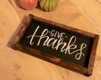 "Medium ""give thanks"" Sign"