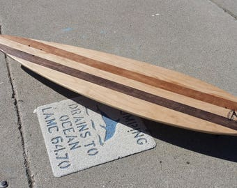 "Free Shipping! Ala Nalu Pintail Longboard Skateboard  Cruiser 40"" x 9-3/8"" DECK ONLY - Handmade model: Stained Pintail Deck"