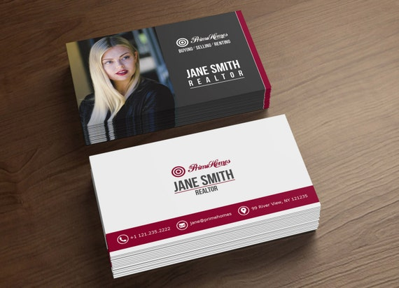 Real Estate Business Cards Realtor Business Card Digital