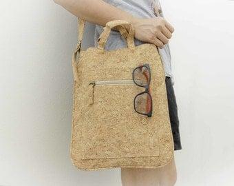 Cork Bag, Shoulder bag/ Handbag made from recycled cork, Handmade