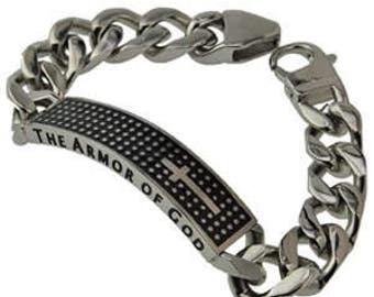 "Shield Cross Bracelet ""Armor Of God"""