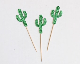 Cactus Cupcake Toppers-Cacti -Anniversary -Birthday-Donut Toppers-Decorations-Fiesta-Cinco de Mayo-Summer-Party-Tropical-Palm Springs-Desert
