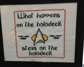 Star Trek inspired cross stitch