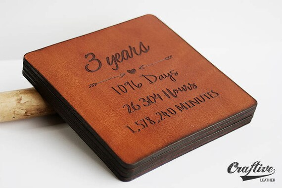 3rd Anniversary Gift Leather 3 Year Anniversary Gift Leather