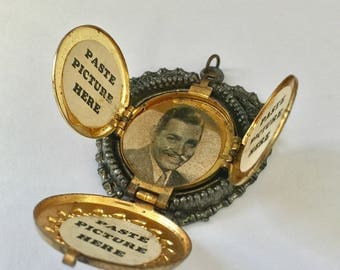 1940's Dime Store Display Locket with Clark Gable