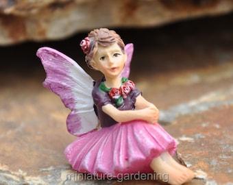 Tiny Fairy Rosie for Miniature Garden, Fairy Garden