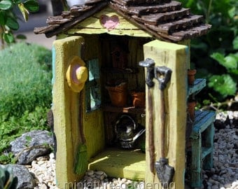 Backyard Garden Shed for Miniature Garden, Fairy Garden