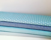 Blue fabric, Baby blue fabric, 100% cotton fabric, Fat quarter, FQ, Fabric by John Louden
