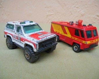 Diecast Cars, Diecast Trucks, Matchbox Trucks, Set of 2 Toy Trucks
