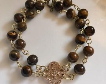 Double Strand Tiger Eye bracelet