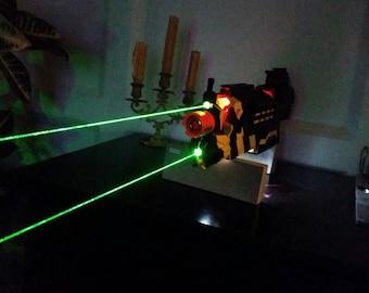 Purple burning laser inside painted Nerf Gun