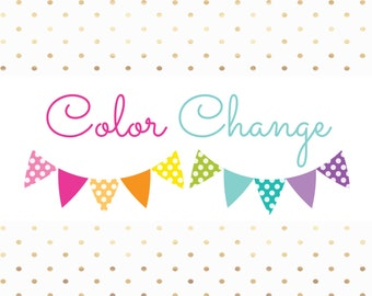Color Change Add-On for Planner Stickers (PLEASE READ CAREFULLY)