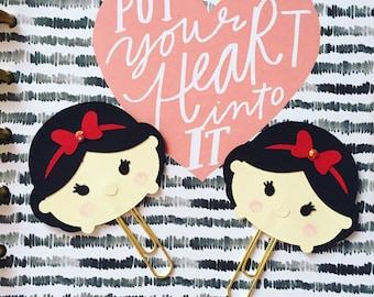 Snow White - Cute Planner Paper Clip - TsumTsum Planner Clip - Bookmark -