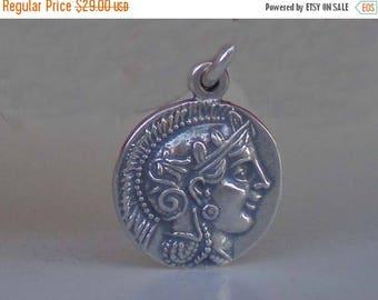 For Sale Athens Tetradrachm - Goddess Athena & Owl of Wisdom Small Silver Pendant-Quality
