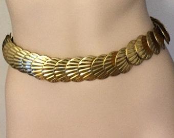 Gold shell belt