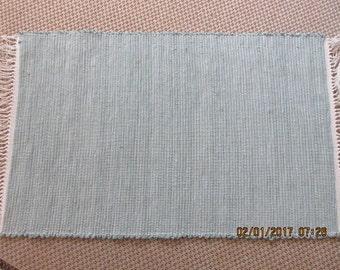 Loomed Rag Rug Green  JW151