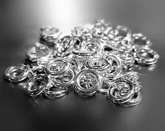 25 Jump Rings 20 Gauge Argentium Sterling Silver