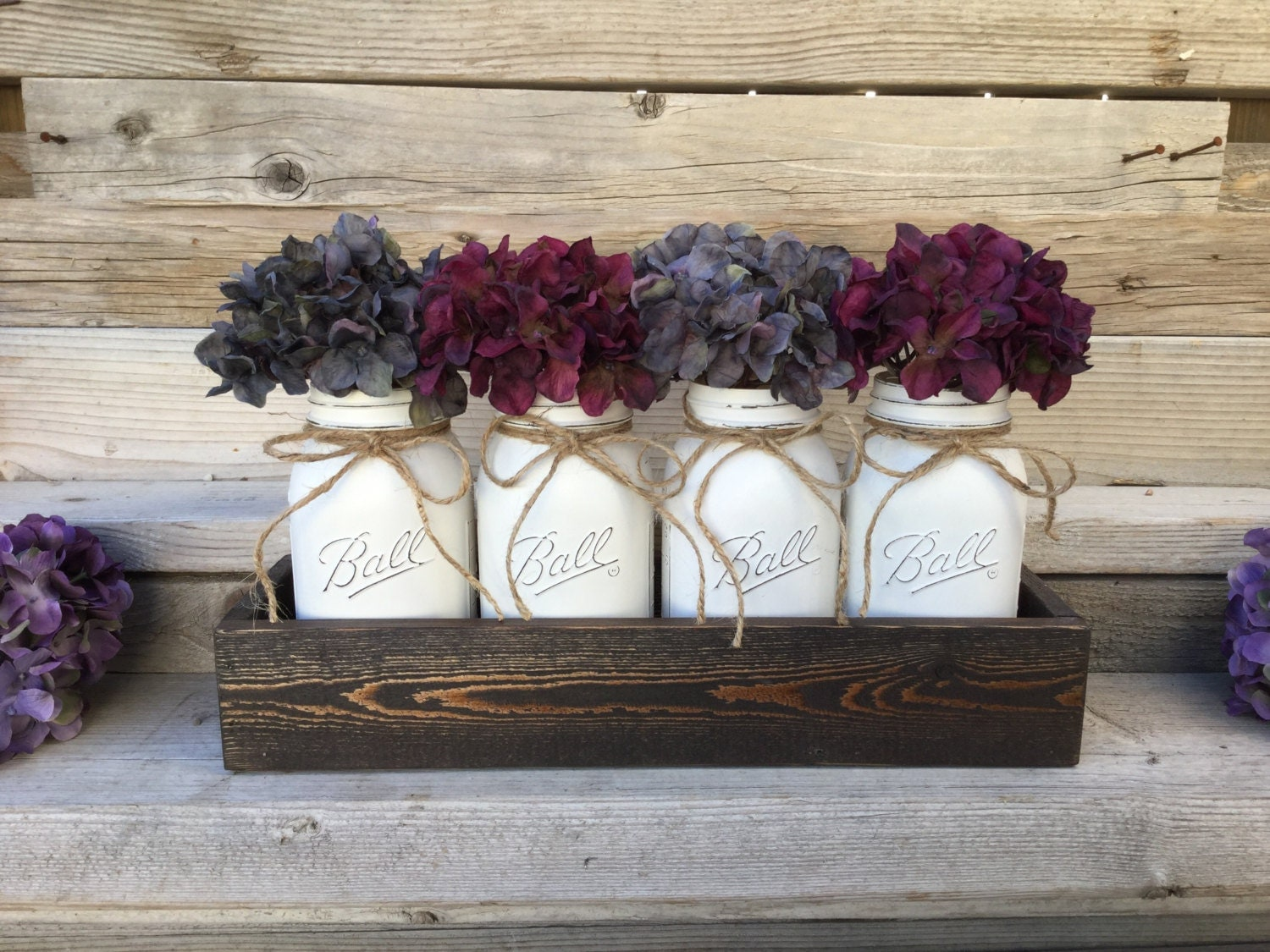Rustic mason jar centerpiece home decor farmhouse