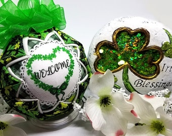 St. Patrick's Day Quilted Keepsake Ornament Irish Welcome