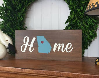 Home State Sign - Home Sign - Closing Gift - Wedding Gift - Newlywed Gift  - Personalized Home State Sign - Home Decor - State Sign