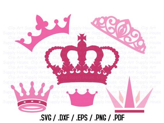 crown svg clipart design file princes svg clipart dxf file