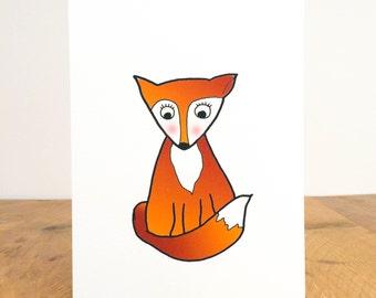Bashful Fox Print