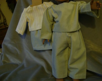 Pantsuit for 18 inch doll with matching skirt and blouse