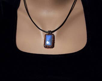 Blue labradorite necklace Gift for mom Gifts for sister Birthday gifts for her Blue necklace Boho pendant Gift for wife Mothers day gift