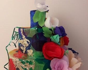 Wedding Pinata,cake pinata,flower pinata