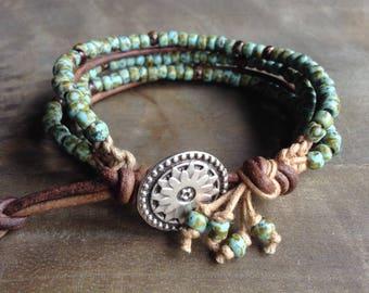 Bohemian bracelet boho chic bracelet gypsy bracelet womens jewelry boho chic jewelry boho bracelet stackable bracelet hippie bracelet