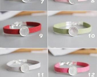 10pcs 12MM bracelet Settings,Handmade Silver bracelet Base, bracelet trays 12MM, 12MM bracelet ...