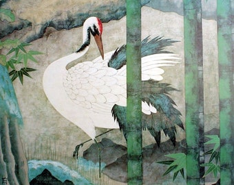 """6"""" X 6"""" Ceramic Accent Tile Japanese Crane"""