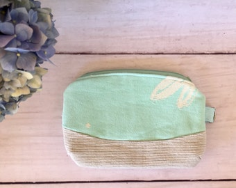 Purse Pouch Zippered made from Ankalia Anisoptera Mint Wrap Scrap Wrapn2Lah Handmade FREE POSTAGE