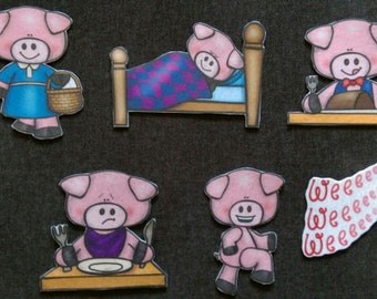 Bundled: 4 Nursery Rhymes and Stories Felt Set #2 // Flannel Board // Imagination // Children // Preschool // Creative Play // Nostalgic