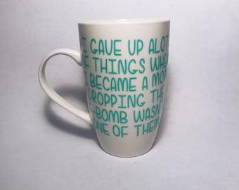 dropping the f-bomb mug