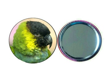 Nanday Conure 55mm Button Pocket Mirror (PG-0765)
