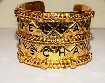 CHANEL PARIS RARE Gorgeous Huge Cuff Bracelet.