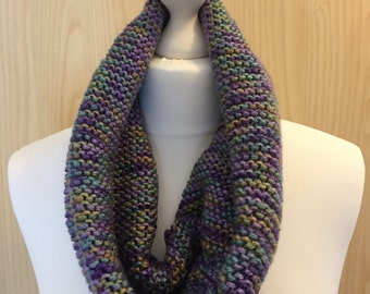 Knitted Cowl, Heathery colours, scarf