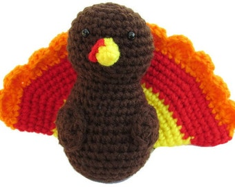 Crochet Turkey, Amigurumi Turkey, Thanksgiving turkey