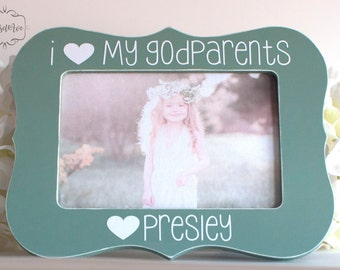 Gift for Godparents Personalized Picture Frame for Godparents Personalized Gift for Godparents Godmother Godfather 4x6