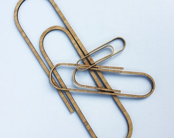 Bamboo Paperclips (set of 3)
