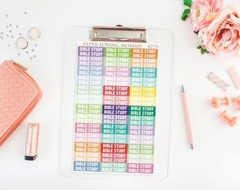 78 Bible Study Headers | Planner Stickers | Header Stickers | Planner Stickers designed for use with the Erin Condren Life Planner | 0779