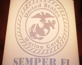 Marine Semper Fi Lamp Shade