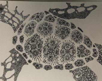 The Sea Turtle - Alssalahif Albahria Original (Part of the Water Series)