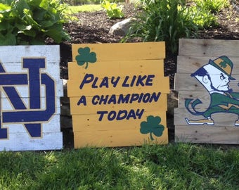 Notre Dame Wood Signs (Set of 3)